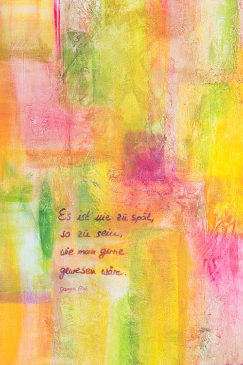 Bild zum Therapieansatz von Petra Karge mit Zitat von George Eliot